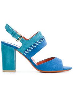 двухцветные сандалии Santoni