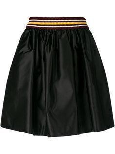 атласная расклешенная юбка  Miu Miu