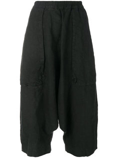 cropped drop-crotch trousers Rundholz Black Label