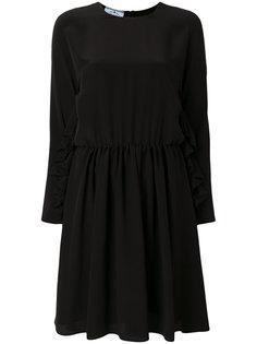 ruffle-trimmed crepe dress Prada