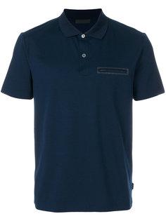 рубашка-поло с карманом на молнии Prada