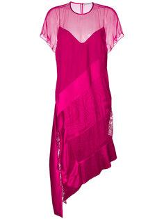 многослойное асимметричное платье-миди Givenchy