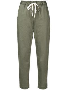 укороченные брюки со шнурком на талии Semicouture