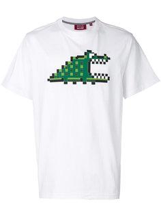 футболка с принтом Pixel Croc Mostly Heard Rarely Seen 8-Bit