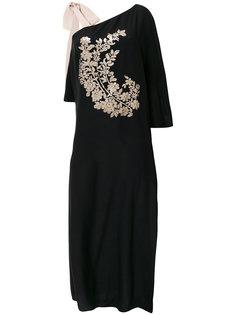 платье с цветочной вышивкой пайетками Fendi