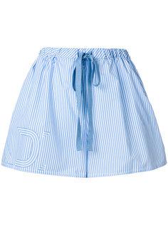 шорты в полоску с логотипом Fendi