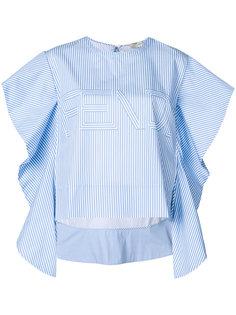 блузка в полоску с логотипом Fendi