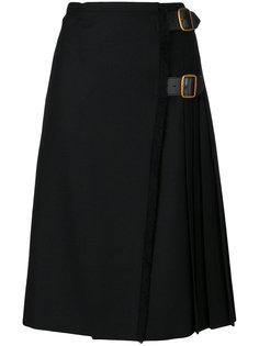 юбка с плиссировкой и пряжками Burberry