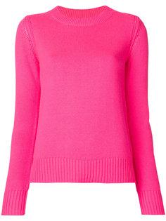 свитер с отделкой в рубчик Burberry