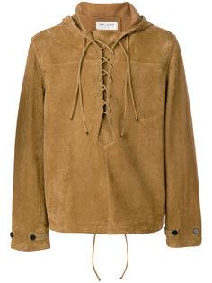 куртка с капюшоном без застежки  Saint Laurent