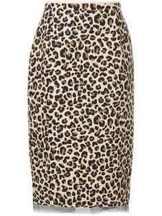 юбка миди с леопардовым принтом  Nº21
