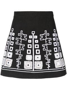мини-юбка с вышивкой Wandering