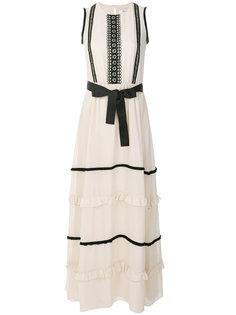 платье макси с бантом Blugirl