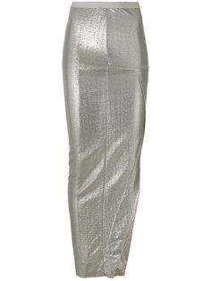 длинная асимметричная юбка  Rick Owens Lilies