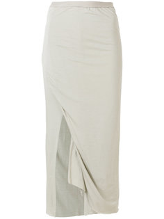 юбка-карандаш с разрезом  Rick Owens Lilies