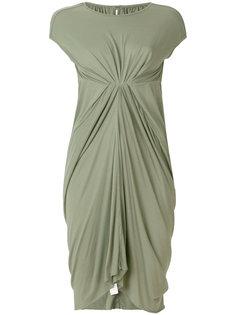 присборенное платье-футболка  Rick Owens Lilies
