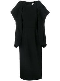 платье с драпировкой Comme Des Garçons