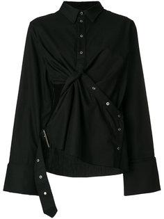 блузка с драпировкой и вырезной деталью Marquesalmeida
