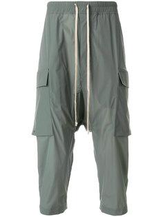 укороченные брюки карго со шнурком  Rick Owens