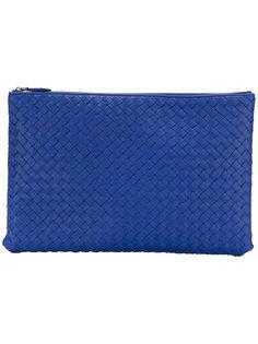 объемный клатч с плетеным дизайном Bottega Veneta
