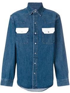 джинсовая рубашка с контрастными карманами  Calvin Klein Jeans