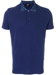 футболка-поло с вышитым логотипом  Fendi