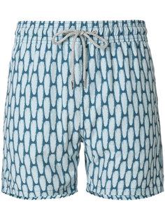 шорты для плавания с принтом перьев Love Brand