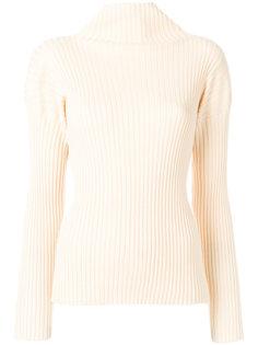 свитер с высокой горловиной в рубчик Dusan