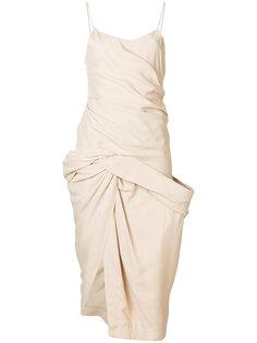 платье с присборенным дизайном Jacquemus