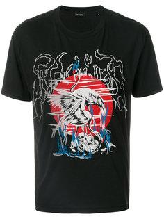 футболка с вышивкой  Diesel