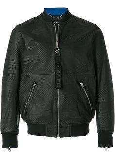 куртка-бомбер с тисненым принтом  Diesel