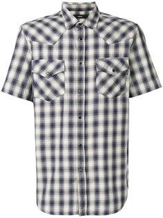 рубашка в клетку с короткими рукавами  Diesel