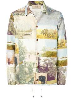 легкая куртка с принтом Maison Flaneur