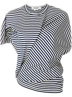 асимметричная футболка в полоску Junya Watanabe Comme Des Garçons