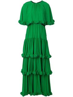 ruffle drape gown MSGM