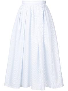 юбка длины миди в складку Adam Lippes