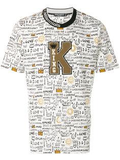футболка с нашивкой King Dolce & Gabbana