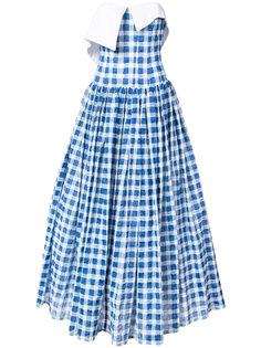 gingham strapless maxi dress Natasha Zinko