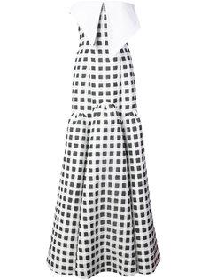 вечернее  платье в клетку гингем Natasha Zinko