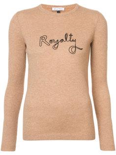 джемпер с надписью Royalty Bella Freud