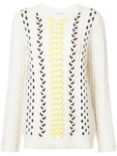вязаный свитер с плетеной отделкой Gabriela Hearst