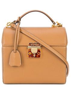 сумка Sara с замком с отделкой эмалью Mark Cross