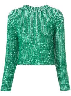 двухцветный вязаный свитер Protagonist
