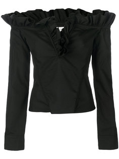 блузка с открытыми плечами с оборками Marquesalmeida