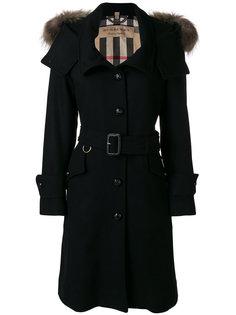 однобортное пальто Claybrooke Burberry