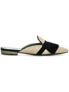fringed slip on loafers Paola Darcano