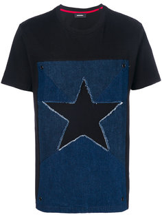 футболка с джинсовой вставкой  Diesel