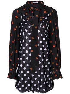 платье в горох с цветочным принтом JW Anderson