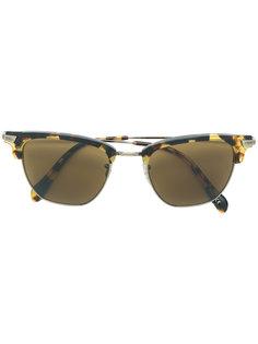 солнцезащитные очки в черепаховой полуоправе  Oliver Peoples