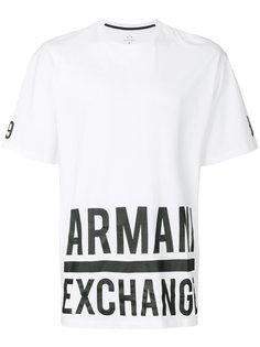 футболка с логотипом  Armani Exchange